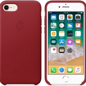 Apple Lederen Back Cover voor iPhone 7/8 - PRODUCT RED