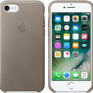 Apple Lederen Back Cover voor iPhone 7/8 - Taupe