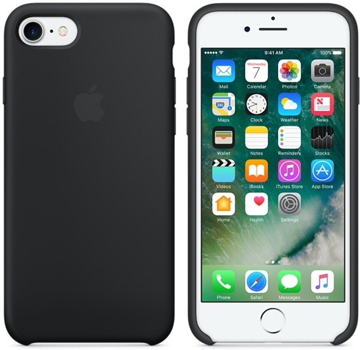 Apple Siliconen Back Cover voor iPhone 7/8 - Zwart