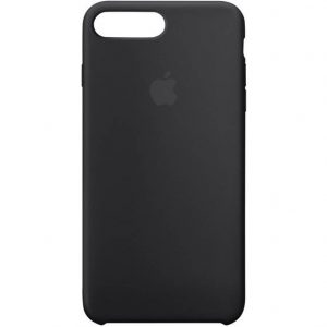 Apple Silicone Case Backcover Apple iPhone 8 Plus, iPhone 7 Plus Zwart