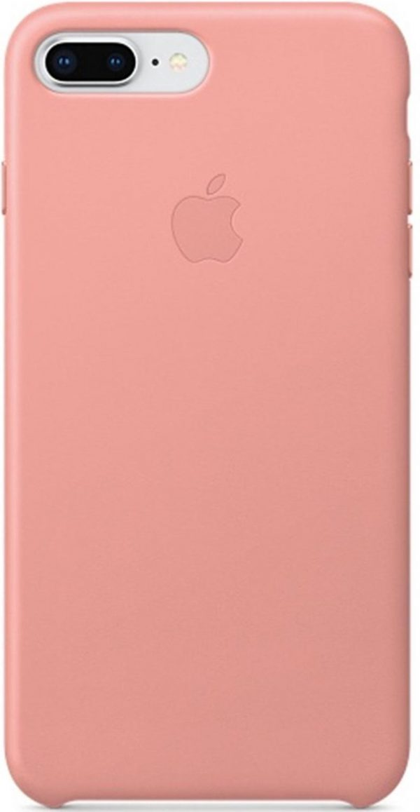 Apple Leather Backcover iPhone 8 Plus / 7 Plus hoesje - Soft Pink